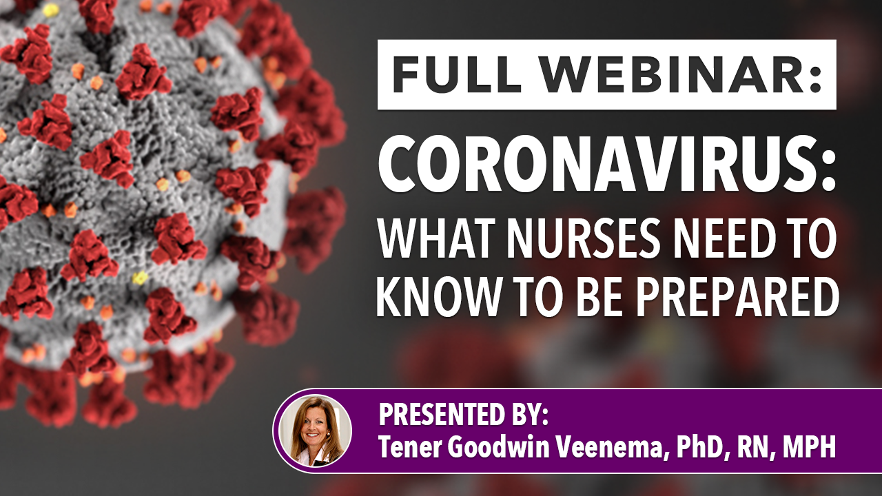 Dr. Veenema discusses disaster preparedness for nurses and nursing students in the event of an infectious disease outbreak with an emphasis on the current coronavirus (COVID-19) public health emergency.